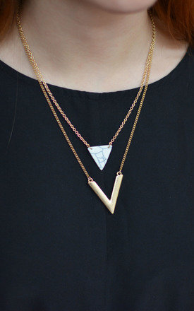 Two Layered Triangle Necklace by Silver Rain