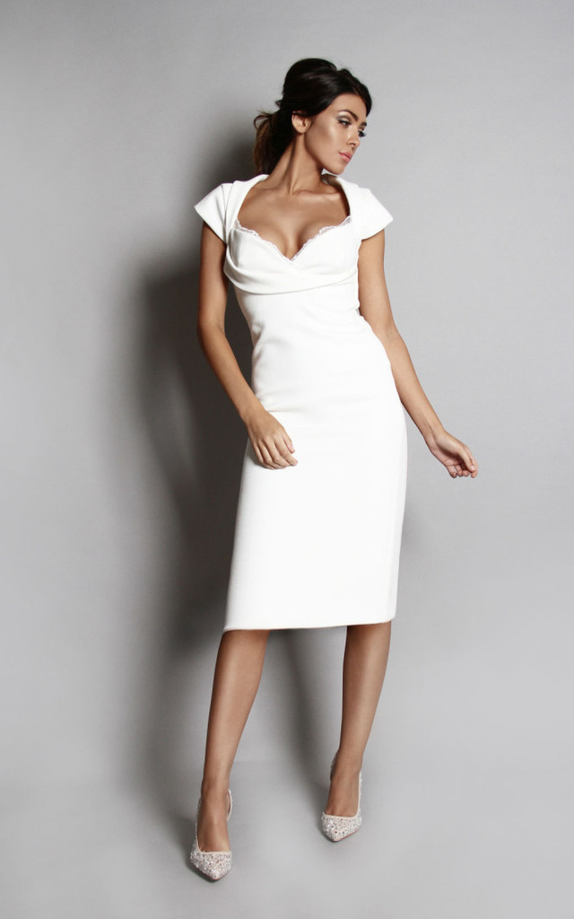 Olivia Dress - White by Rebecca Rhoades
