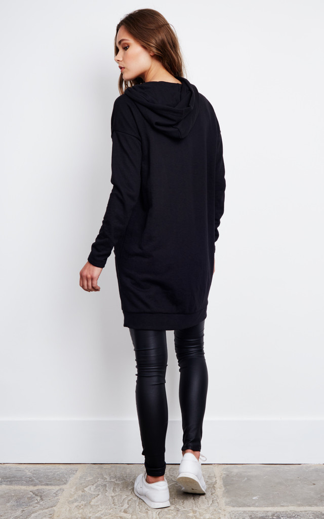 Black Oversized Hoodie by Noisy May
