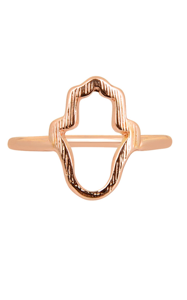 Hamsa Ring In Rose Gold by DOSE of ROSE