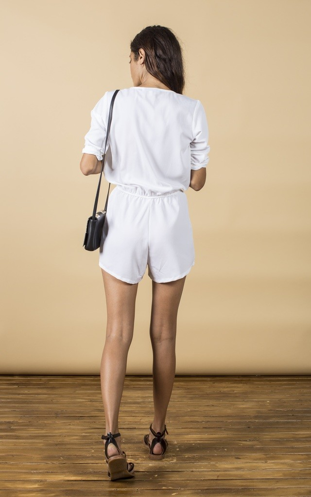 Tiago Playsuit in White image