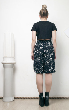90s vintage flower printed high waisted shorts by Pop Sick Vintage