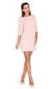 Pink 3/4 sleeve dress with pockets by KATRUS