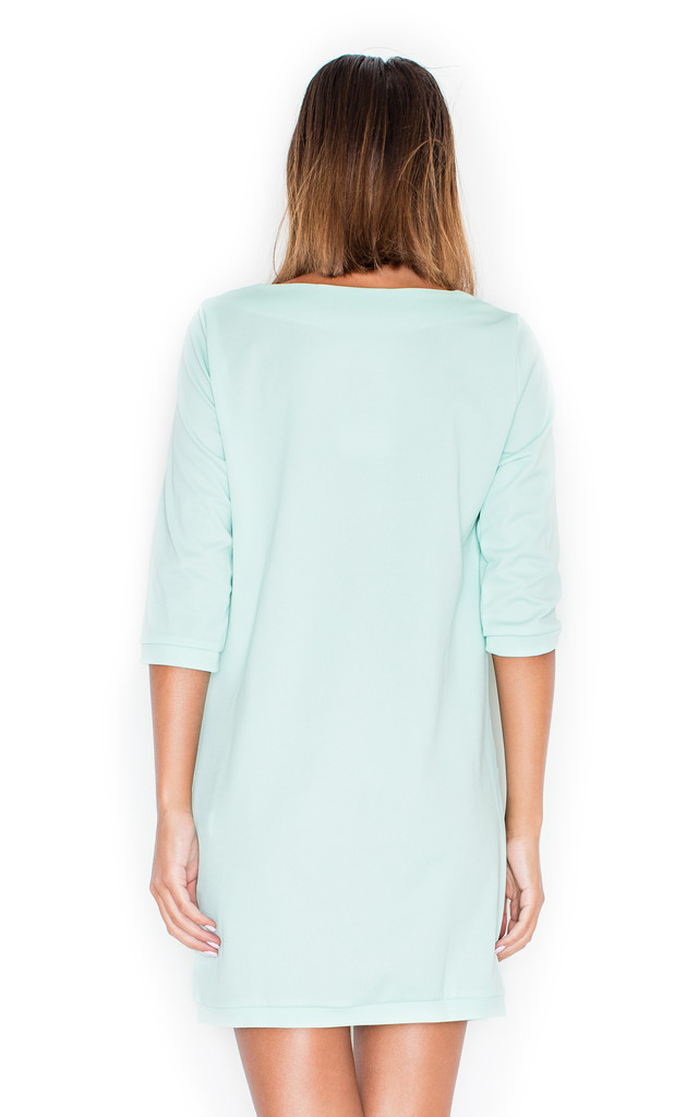 Mint 3/4 sleeve dress with pockets by KATRUS