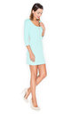Mint 3/4 sleeve dress with front zipper by KATRUS
