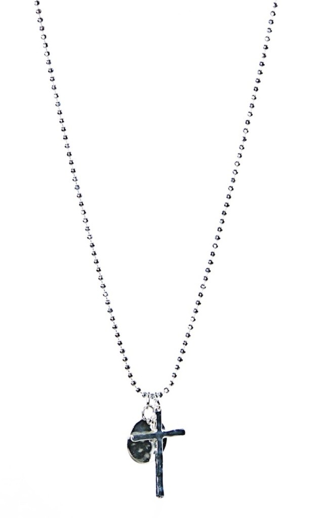 Olia Jewellery Lola Cross  Necklace In Color Silver by Olia Jewellery
