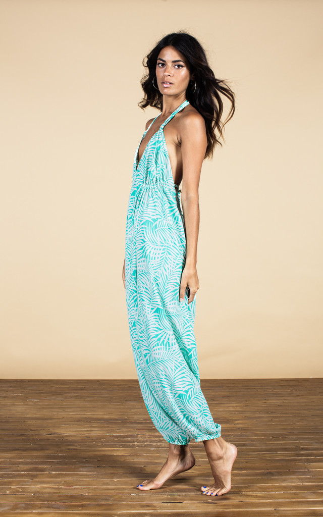 Genie Jumpsuit in Palm Print image