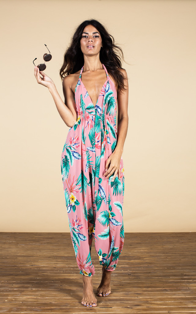 Genie Jumpsuit in Pink Tropical image