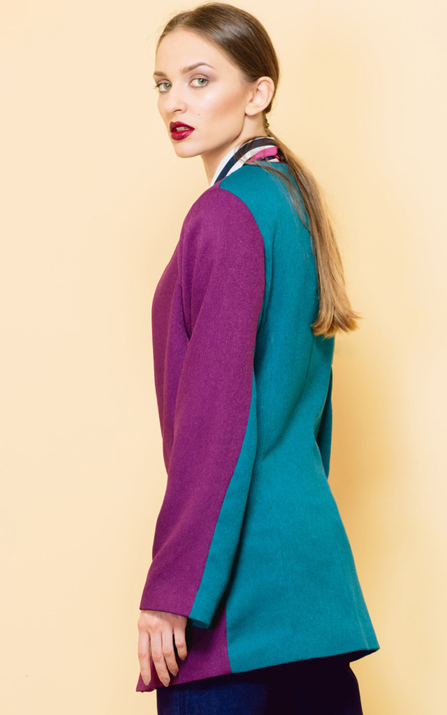 Beautiful Mistakes Colour Block Jacket by KITES AND BITES