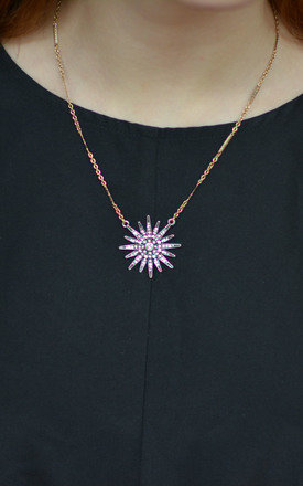 Elegant Silver Flower Design Necklace by Silver Rain