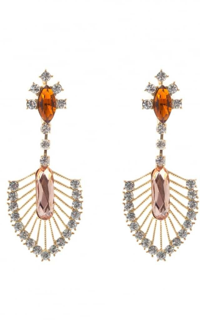 Jania Blush Jewelled Drop Earrings by Johnny Loves Rosie