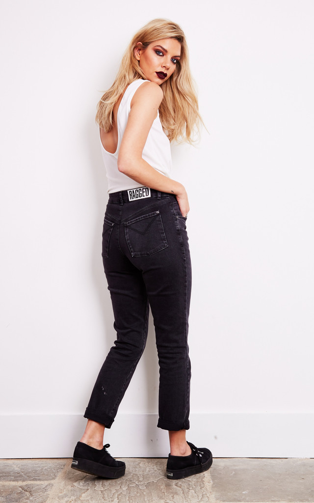 CHARCOAL MOM JEAN by The Ragged Priest
