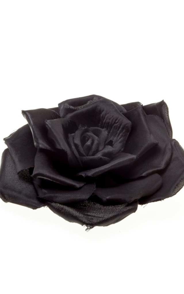 Millie Black Floral Hair Corsage by Johnny Loves Rosie