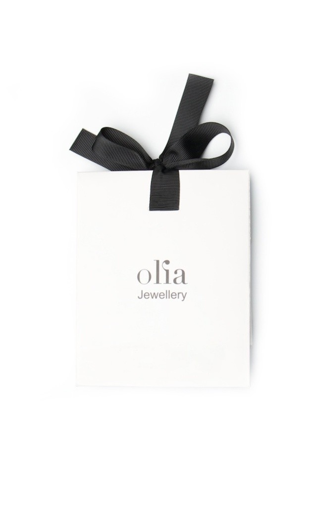 Olia Jewellery Molly Crystal Disc Necklace In Silver by Olia Jewellery