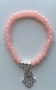 Olia Jewellery Marion Hamsa Bracelet In Color Blush by Olia Jewellery