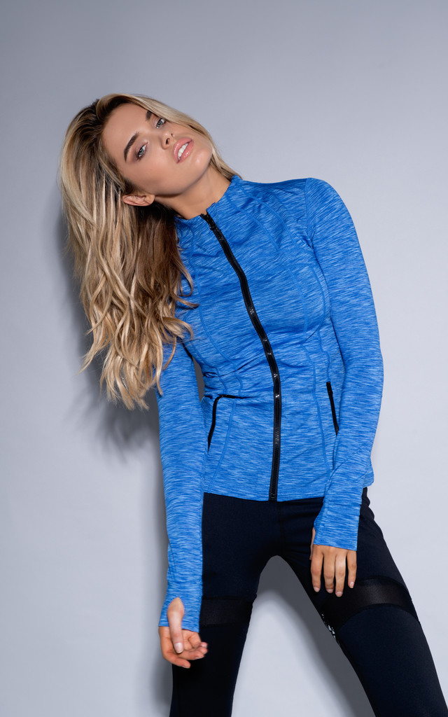 Bella Exercise Jacket in Blue by Cherie Bumble