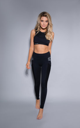 Lucia Gym Leggings in Black by Cherie Bumble