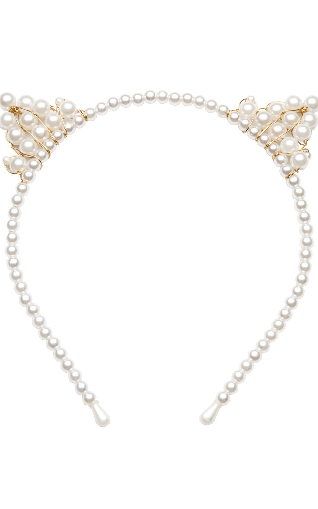 Pearl Cat Ears Headband by Beauxoxo