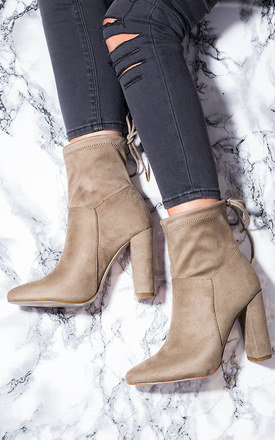 FERN Lace Up Block Heel Ankle Boots Shoes - Brown Suede Style by SpyLoveBuy