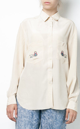 90s pure silk skater sheep blouse by Pop Sick Vintage