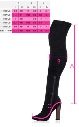 VAGAS Pointed Toe Block Heel Over Knee Tall Boots - Black Suede Style by SpyLoveBuy