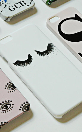 Fluttery Eyelash print phone case by Rianna Phillips
