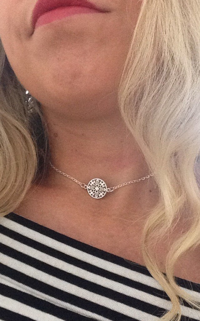 Sophia Disc Choker by Diamond in The Sky
