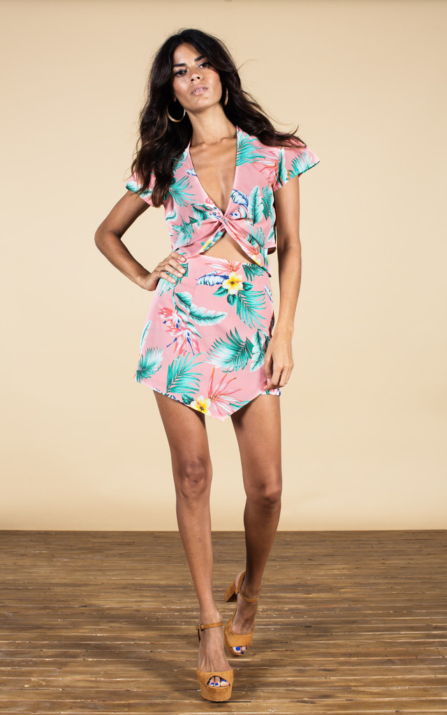 Zuzu Mini Skirt in Pink Tropical image