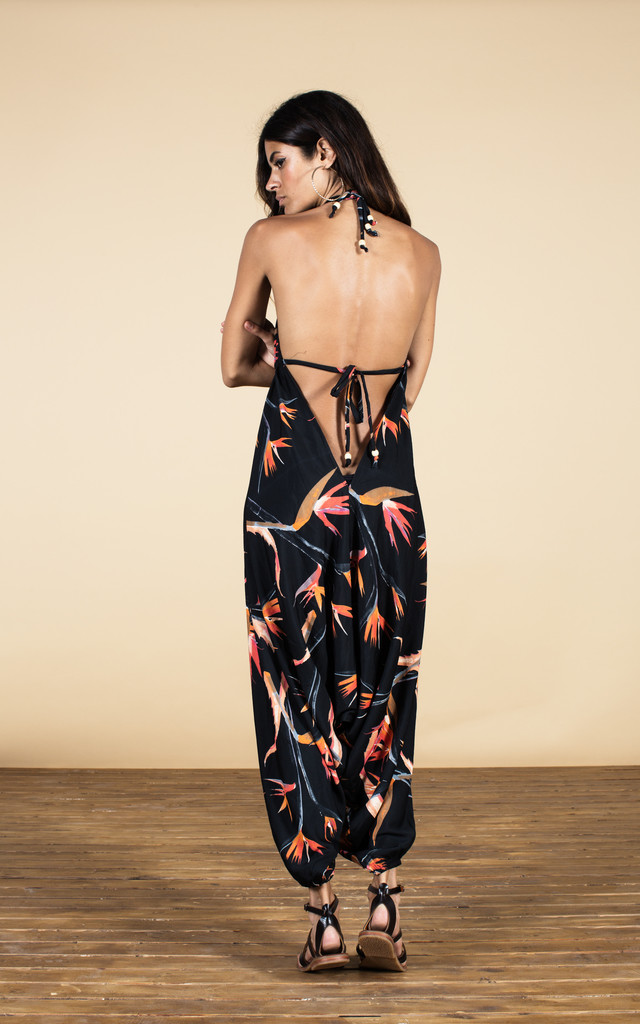 Genie Jumpsuit in Paradise Birds Print image