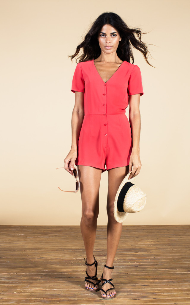 Bambi Playsuit in Red  image