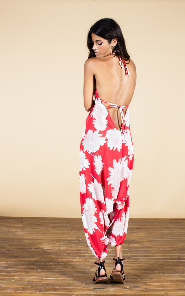 Genie Jumpsuit in Red Bloom image