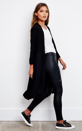 Black Pleated Kimono by Lilah Rose