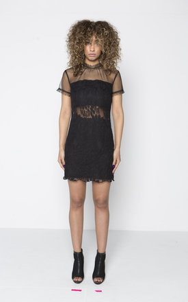 Sexy lace mix shift dress with cut out detail by Quillattire
