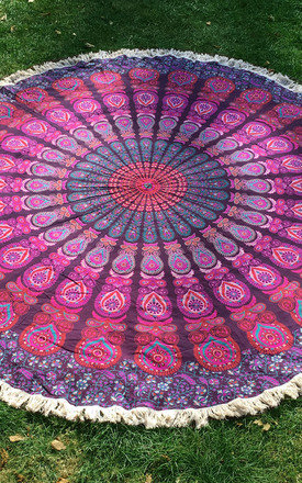 Boho Roundie - Holi Pink by be-snazzy