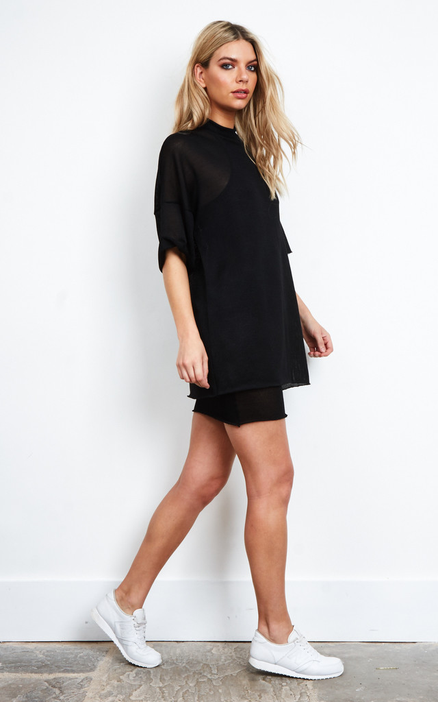 Black Layered Knit Dress by The Ragged Priest