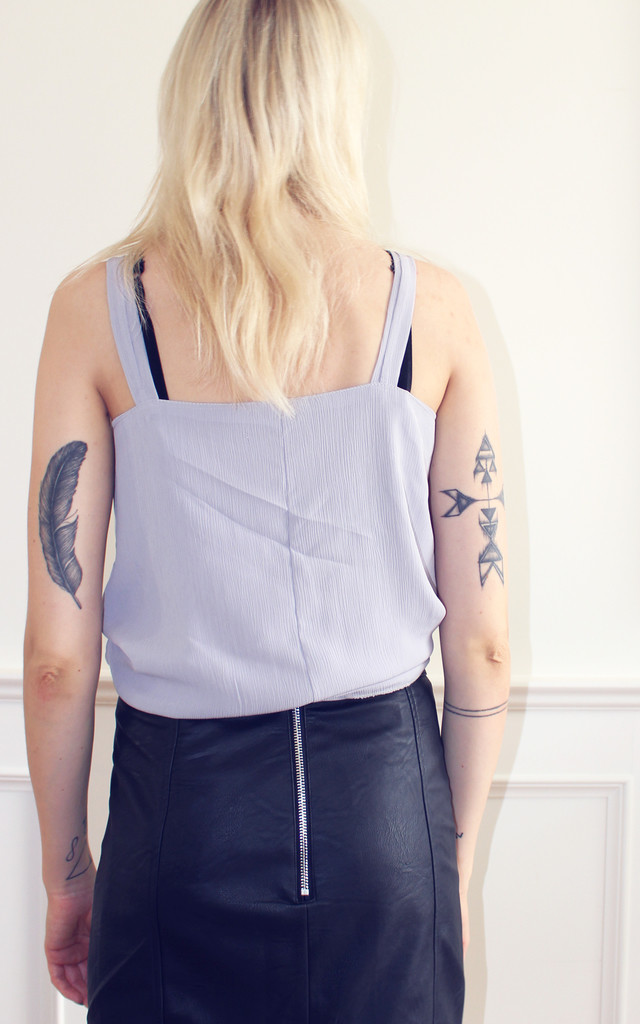 Lavender purple party slip top by Daze