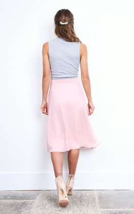 Alicia Pink Midi Skirt by TwentyFour Fashion