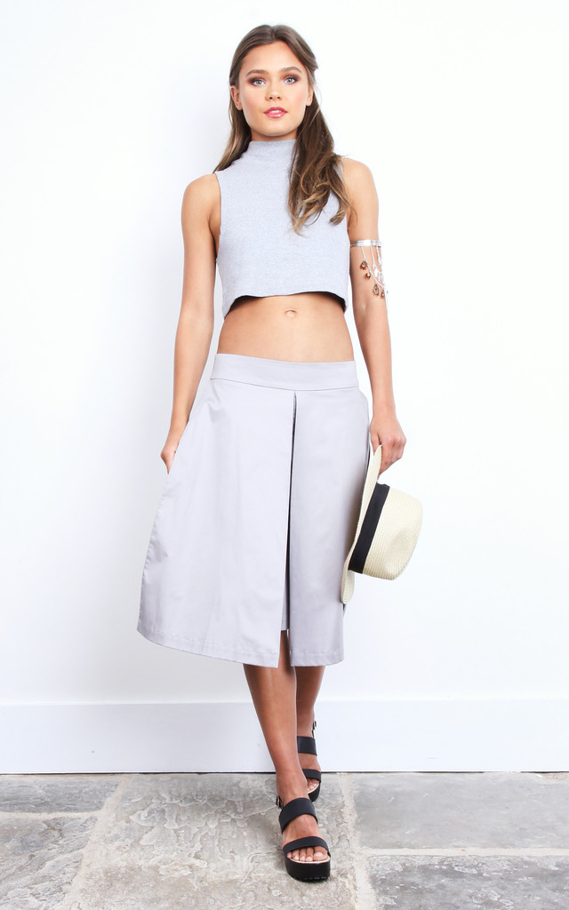 Yana Culottes in Grey by TwentyFour Fashion