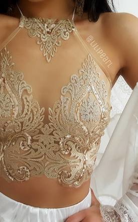 Bronzette Lace mesh detail by LILIPEARL