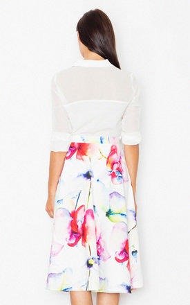 Midi print floral flared skirt by FIGL