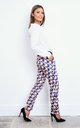 Elegant pants with original geometric formula by so.Nife