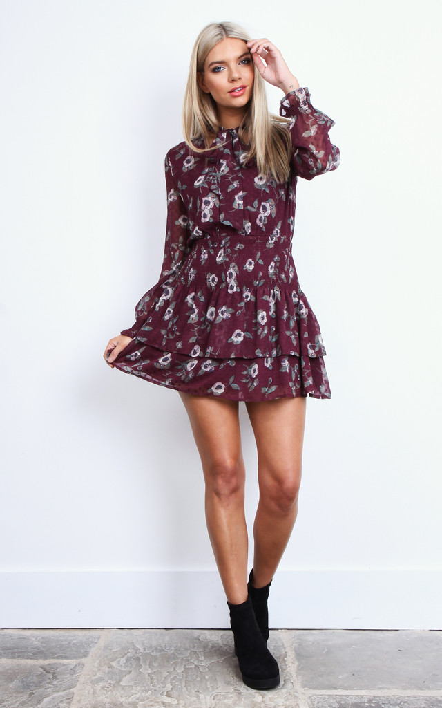 Tie Long Sleeve Dress by Moon River