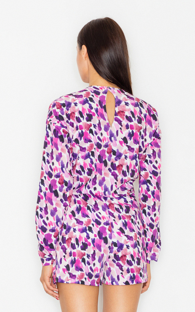 Purple Print dots playsuit by FIGL