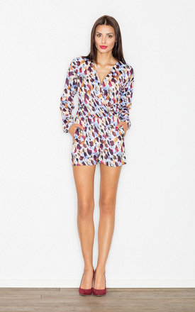 Multicoloured Print dot playsuit by FIGL