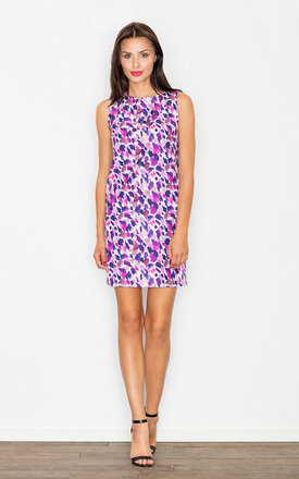 Purple Print dots mini dress by FIGL