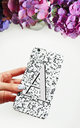 Regina grey alphabet phone case by Rianna Phillips