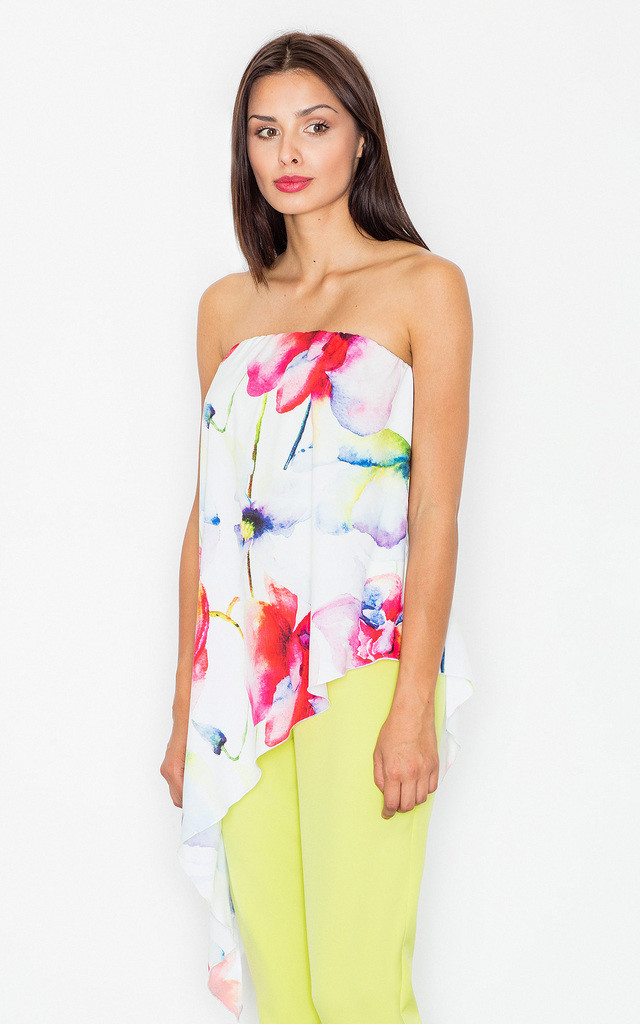 Lime off the shoulder floral print jumpsuit by FIGL