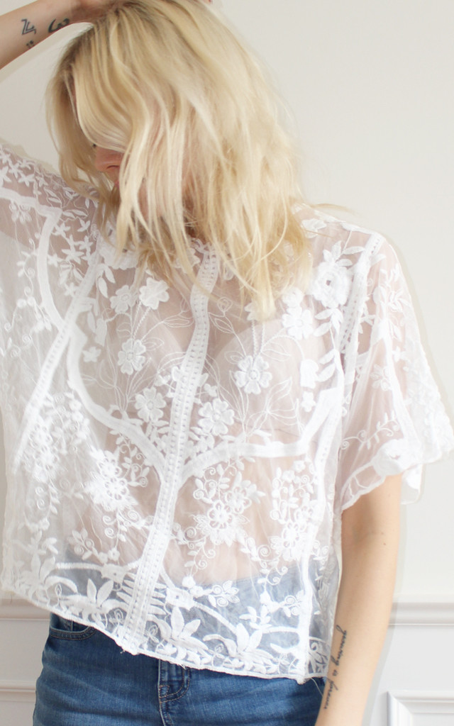 White lace top by Daze