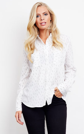 Thunder white long sleeve blouse by J.O.A