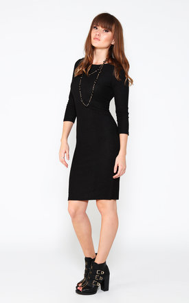 Knitted Midi Black Dress by Jezzelle